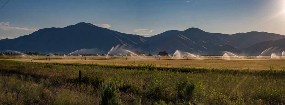 Irrigating the valley