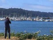 Colin capturing the bay