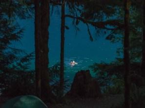 Late evening dip