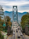 Suspension bridge to North Vancouver