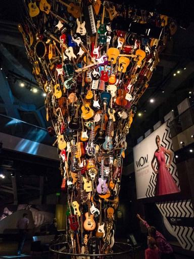 Tower of guitars