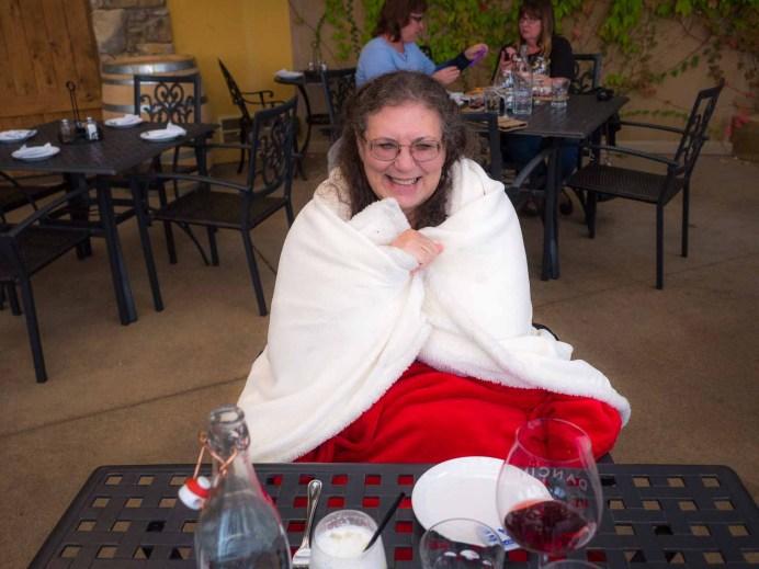"""Dancin Winery"" - blankets for customers"