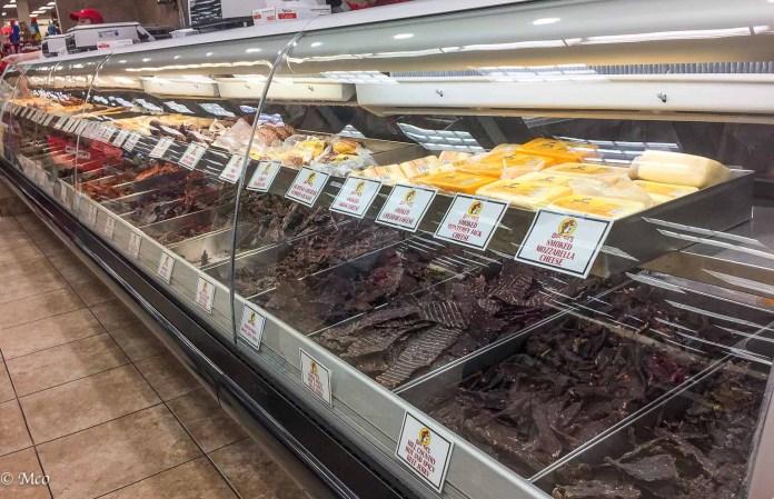 Texas Big: Beef Jerky display