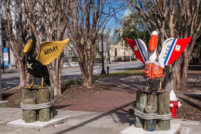 Army and Coastguard Mascots
