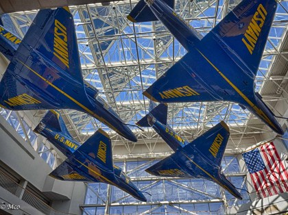 Different view of the Blue Angels