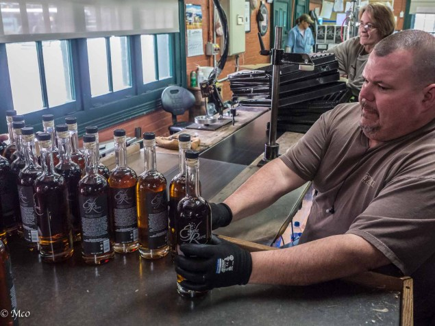 Hand Bottling a Single Barrel Batch