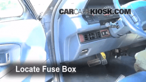 Interior Fuse Box Location: 19911996 Buick Park Avenue  1994 Buick Park Avenue 38L V6