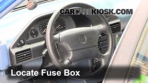 Interior Fuse Box Location: 19911996 Ford Escort  1993