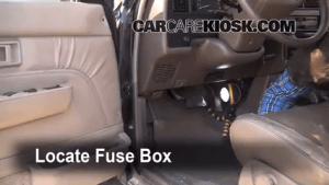 Interior Fuse Box Location: 19901995 Toyota 4Runner  1994 Toyota 4Runner SR5 30L V6