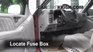 Interior Fuse Box Location: 19951997 Chevrolet Blazer  1995 Chevrolet Blazer LT 43L V6 (4 Door)
