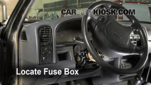 Interior Fuse Box Location: 19861997 Nissan Pickup  1995