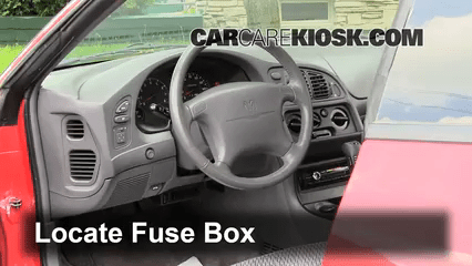 Fuse Panel Diagram Interior Fuse Box Location 1995 2000 Dodge Avenger 1996