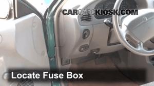 Interior Fuse Box Location: 19972003 Ford Escort  1998 Ford Escort SE 20L 4 Cyl Sedan