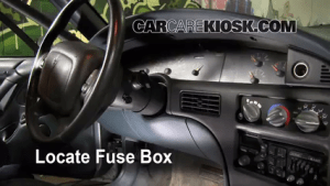 Interior Fuse Box Location: 19921999 Pontiac Bonneville  1997 Pontiac Bonneville SE 38L V6