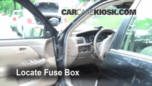Interior Fuse Box Location: 19972001 Toyota Camry  1997 Toyota Camry XLE 30L V6