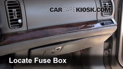 Fuse Diagram For 2005 Cadillac Sts Interior Fuse Box Location 1997 2005 Buick Park Avenue