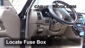 Interior Fuse Box Location: 20022006 Infiniti Q45  2002