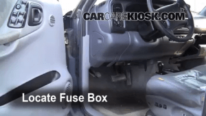 Interior Fuse Box Location: 19982003 Dodge Durango  1999
