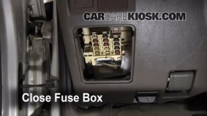 Interior Fuse Box Location: 19962002 Toyota 4Runner