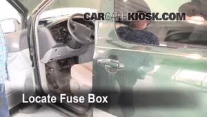 Interior Fuse Box Location: 19982003 Toyota Sienna  1999
