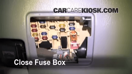 2000 Ford Taurus Interior Fuse Box Diagram Interior Fuse Box Location 1991 1997 Toyota Previa 1993