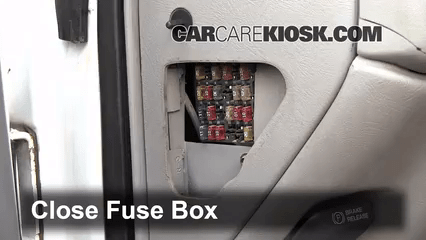 Fuse Diagram For 2000 Chevy S10 Interior Fuse Box Location 1990 2000 Chevrolet K3500