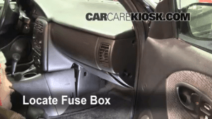 Interior Fuse Box Location: 19912002 Saturn SL  2000