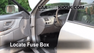 Interior Fuse Box Location: 20002004 Toyota Avalon  2003 Toyota Avalon XLS 30L V6