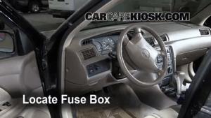 Interior Fuse Box Location: 19972001 Toyota Camry  1999
