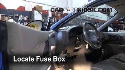 1999 Mazda B2500 Fuse Box Diagram Interior Fuse Box Location 1997 2003 Ford Escort 2002