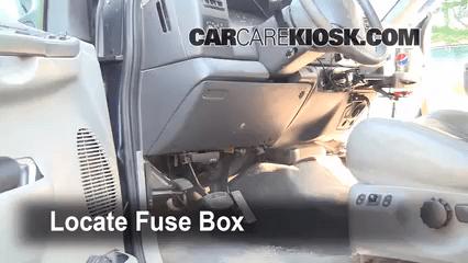 Xl 4x4 Fuse Box Interior Fuse Box Location 1999 2007 Ford F 250 Super