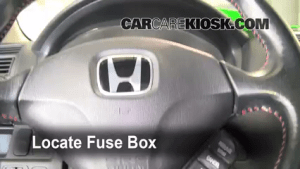 Interior Fuse Box Location: 20012005 Honda Civic  2004