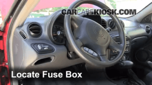 Interior Fuse Box Location: 19992005 Pontiac Grand Am  2003 Pontiac Grand Am SE1 34L V6 Sedan