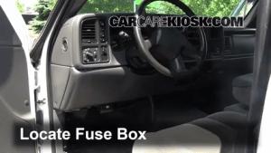 Interior Fuse Box Location: 19992007 Chevrolet Silverado 1500  2005 Chevrolet Silverado 1500