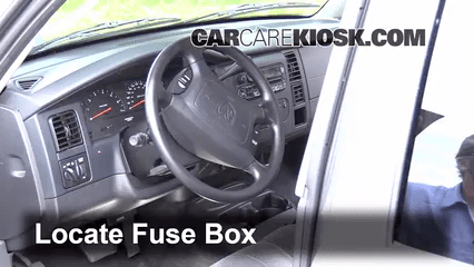 2008 Dodge Durango Fuse Box Interior Fuse Box Location 1997 2004 Dodge Dakota 2004