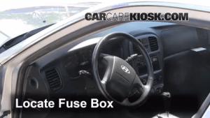 Interior Fuse Box Location: 20022005 Hyundai Sonata