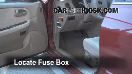 2003 Hyundai Xg350 Fuse Box Diagram Interior Fuse Box Location 2001 2006 Kia Optima 2004