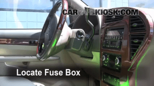 Interior Fuse Box Location: 20022007 Buick Rendezvous  2004 Buick Rendezvous CXL 36L V6