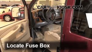 Interior Fuse Box Location: 19962014 GMC Savana 3500