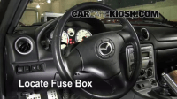 Interior Fuse Box Location: 1999-2005 Mazda Miata - 2005 ...