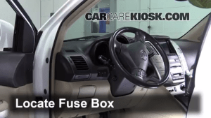 Interior Fuse Box Location: 19992003 Lexus RX300  2003
