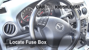 20032008 Mazda 6 Interior Fuse Check  2006 Mazda 6 i 23L 4 Cyl Sedan (4 Door)