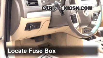 Ford Fusion Hybrid Fuse Box Interior Fuse Box Location 2006 2011 Mercury Milan 2007