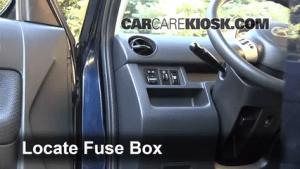 Interior Fuse Box Location: 20042006 Scion xB  2006