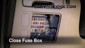 Interior Fuse Box Location: 20022006 Toyota Camry  2006 Toyota Camry LE 24L 4 Cyl