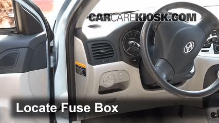 2008 Kia Sedona Fuse Box Diagram Interior Fuse Box Location 2006 2011 Hyundai Accent