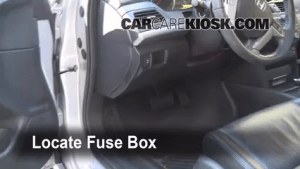 Interior Fuse Box Location: 20082012 Honda Accord  2008 Honda Accord EXL 35L V6 Sedan (4 Door)