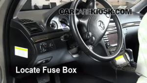 Interior Fuse Box Location: 20032009 MercedesBenz E320  2009 MercedesBenz E320 Bluetec 30L
