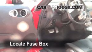 Interior Fuse Box Location: 20032009 Nissan 350Z  2008