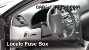 Interior Fuse Box Location: 20072011 Toyota Camry  2009